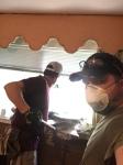 Elders helping gut a flooded house in Gonzales, LA (Aug. 27, 2016)