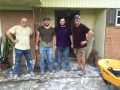 Elders helping gut a flooded house in Gonzales, LA (Aug. 27, 2016)